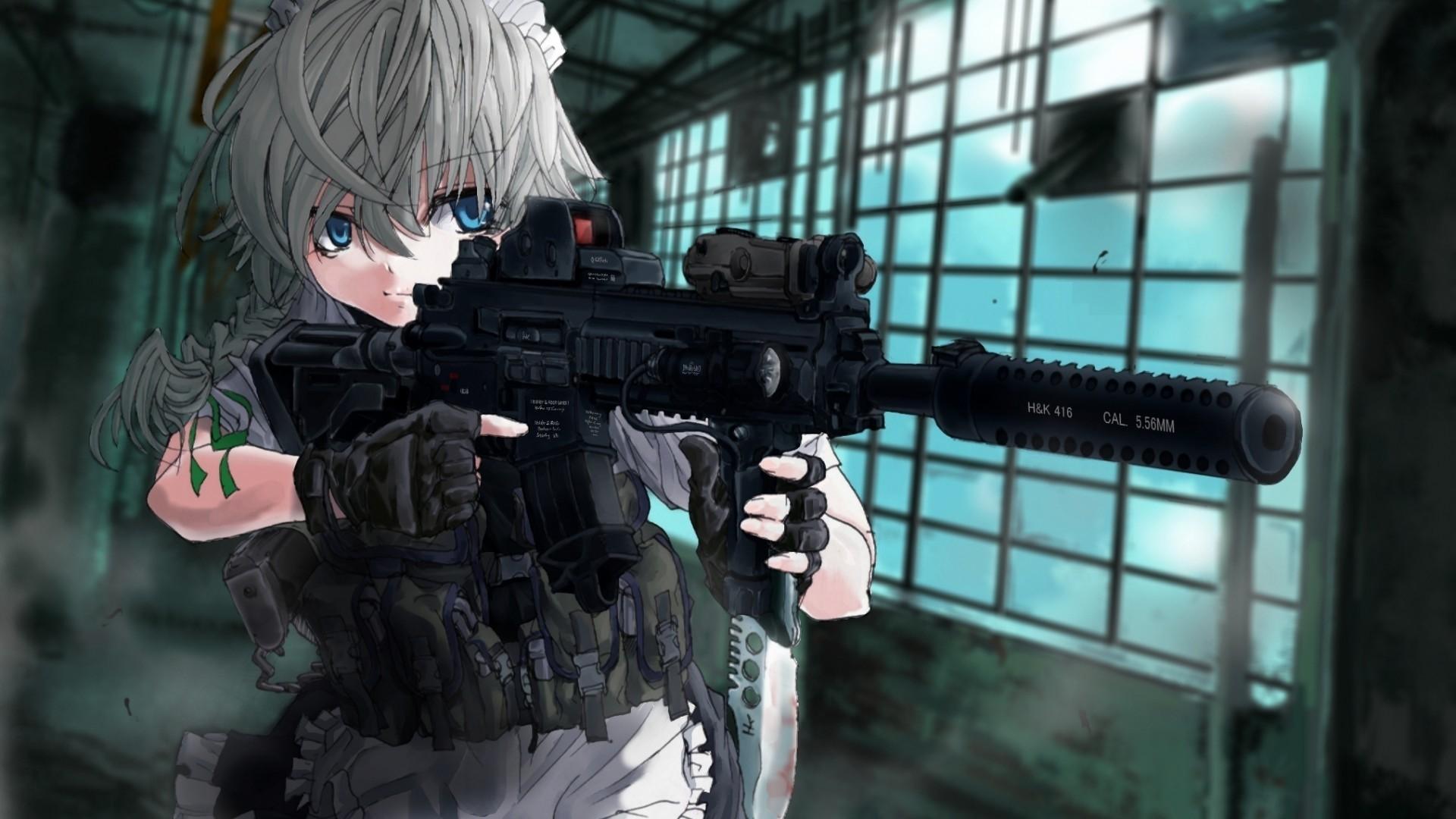 Anime Girls With Guns Wallpaper 1920x1080