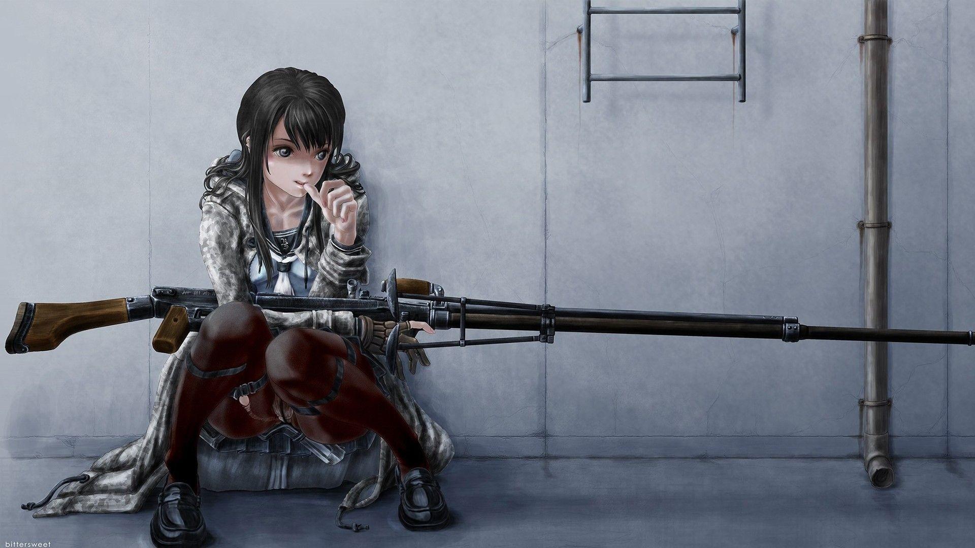 Anime Girls With Guns Wallpaper Download