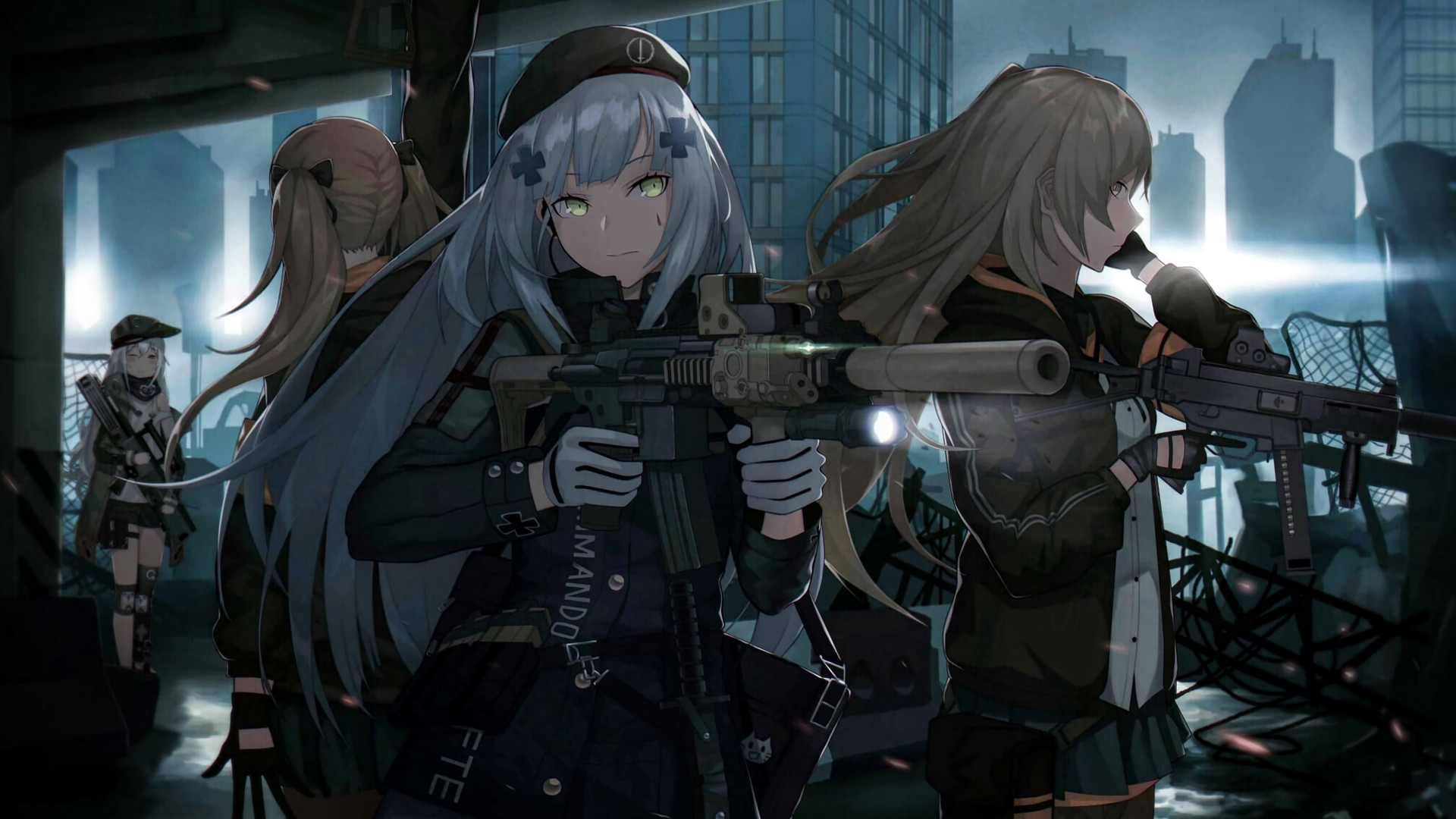 Anime Girls With Guns Wallpaper Download Full