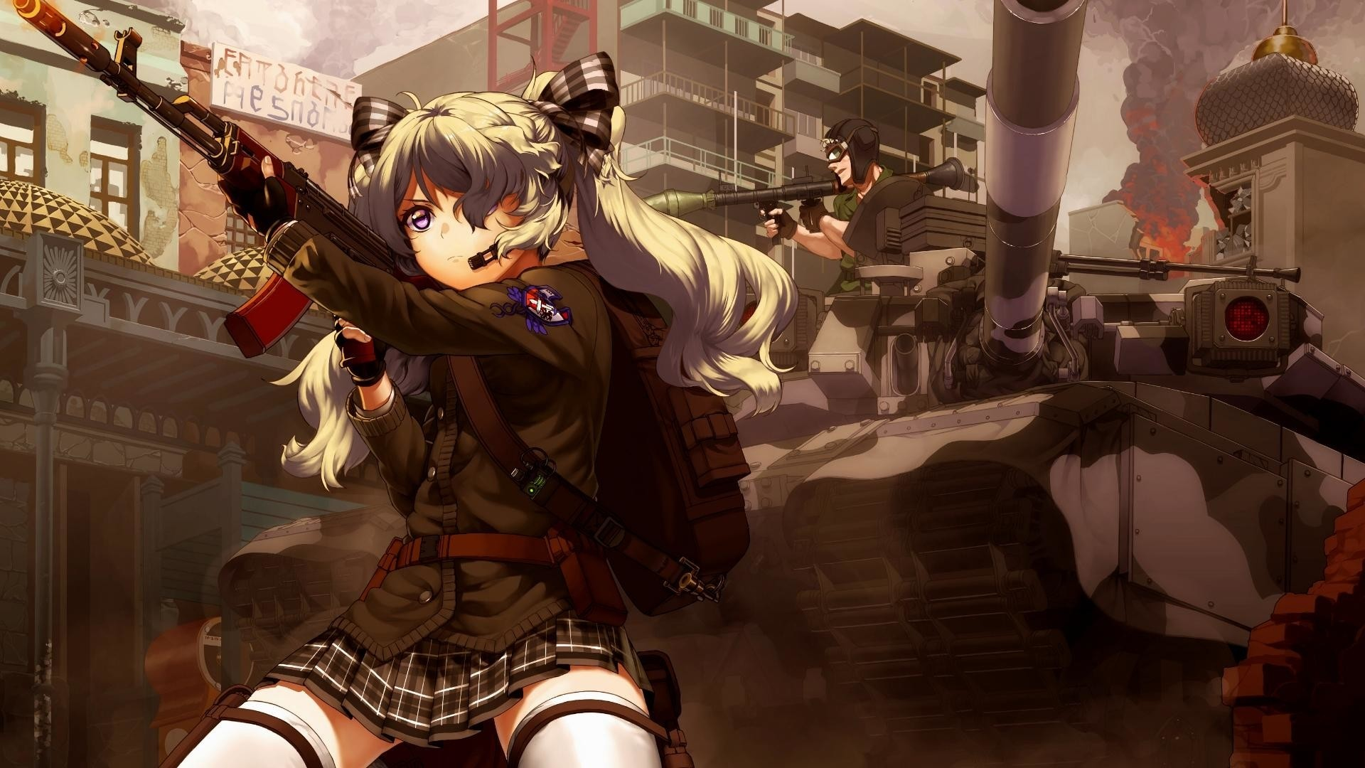 Anime Girls With Guns Wallpaper For Pc