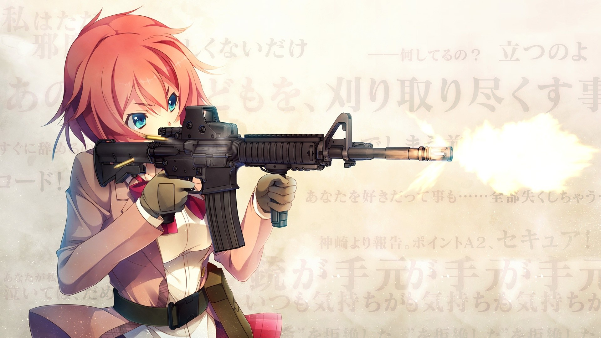Anime Girls With Guns Wallpaper Free