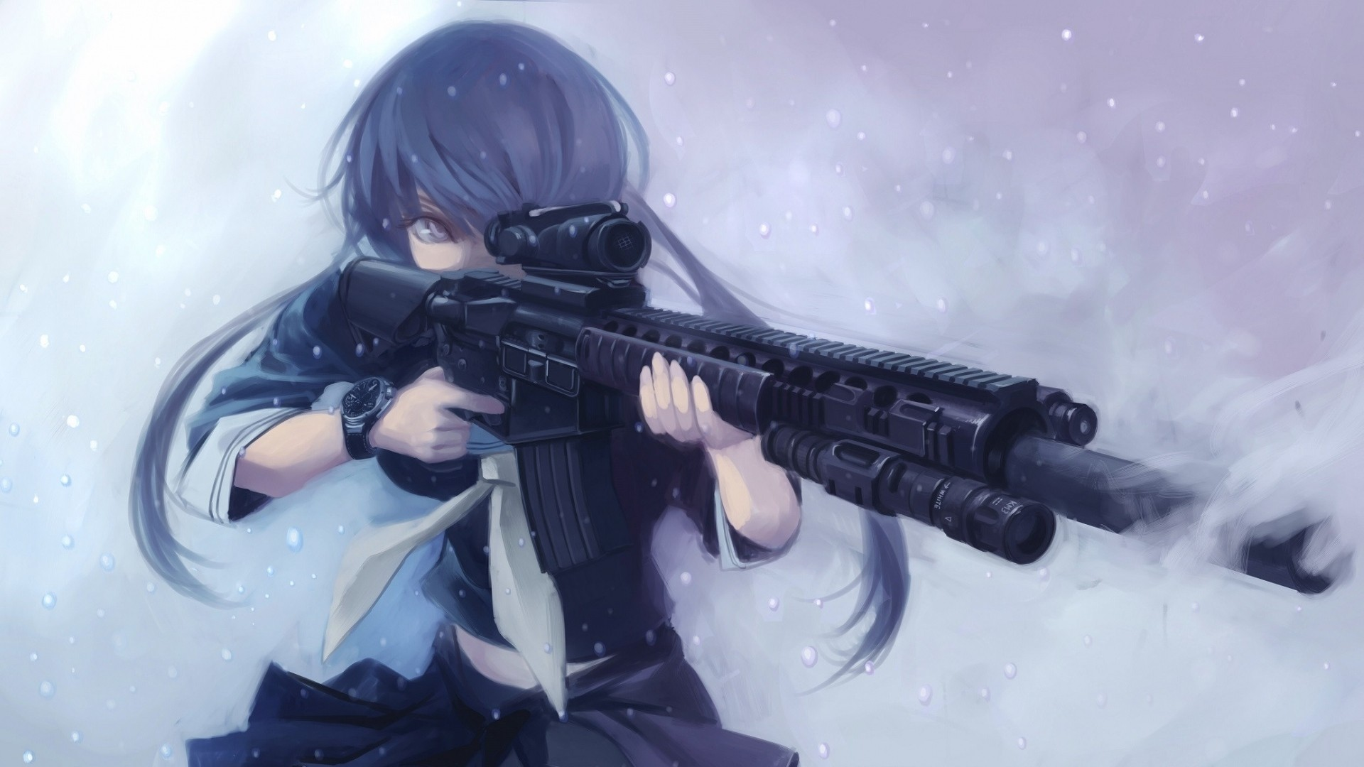 Anime Girls With Guns Wallpaper Free Download