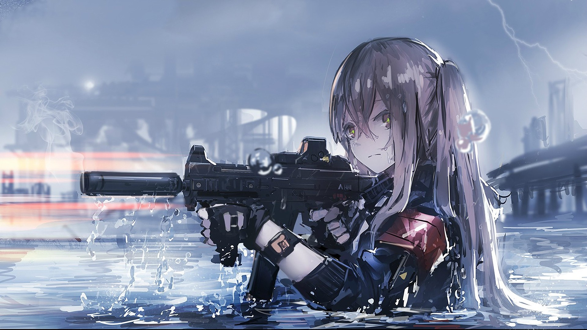 Anime Girls with Guns Wallpapers: 10+ Images - WallpaperBoat