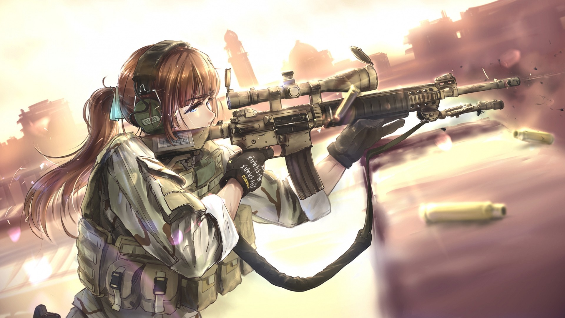 Anime Girls With Guns Wallpaper Full HD