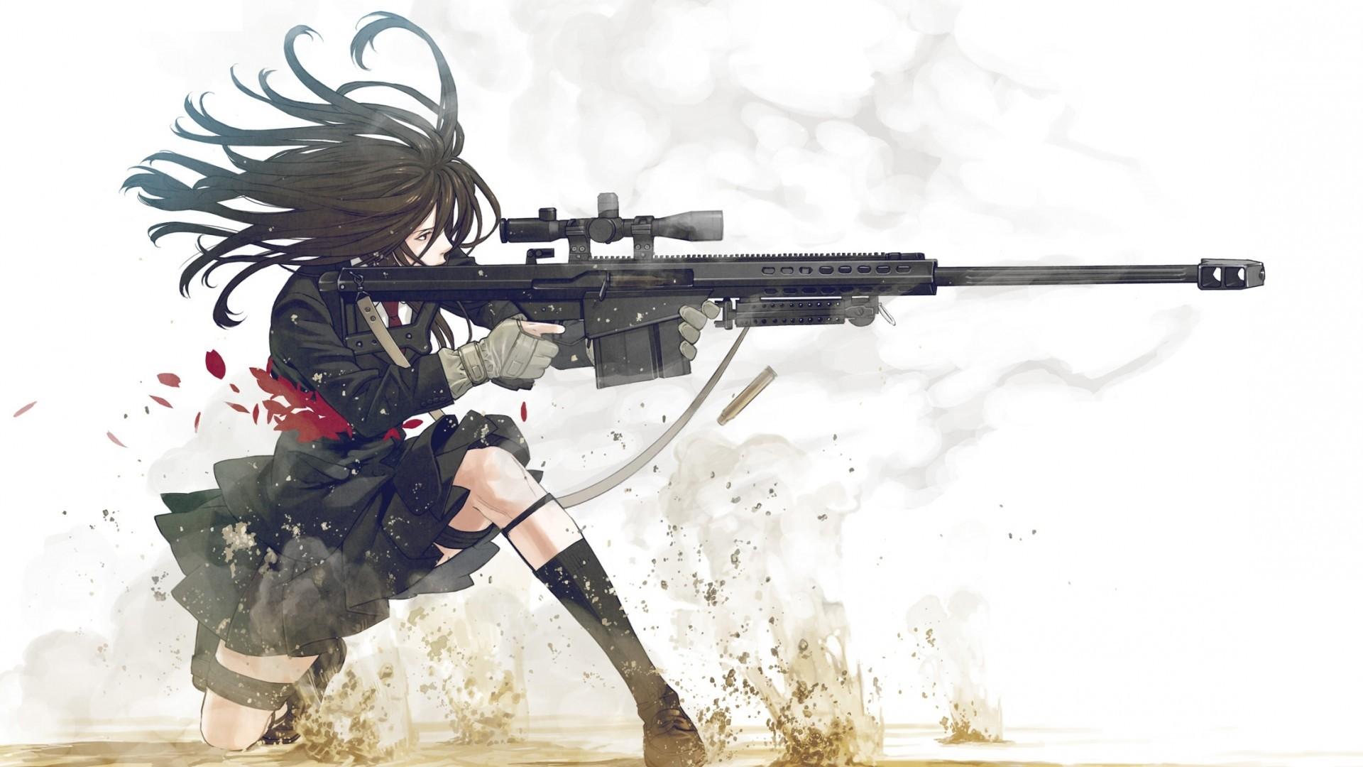 Anime Girls With Guns Wallpaper Image