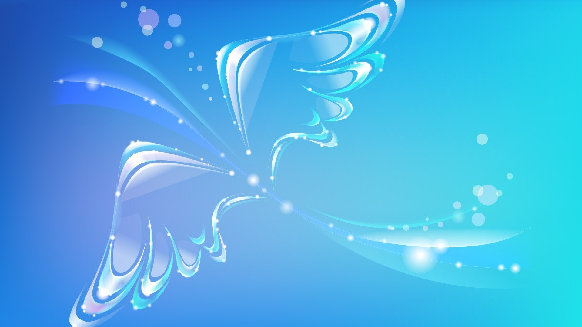 Blue Butterfly Background Wallpaper HD