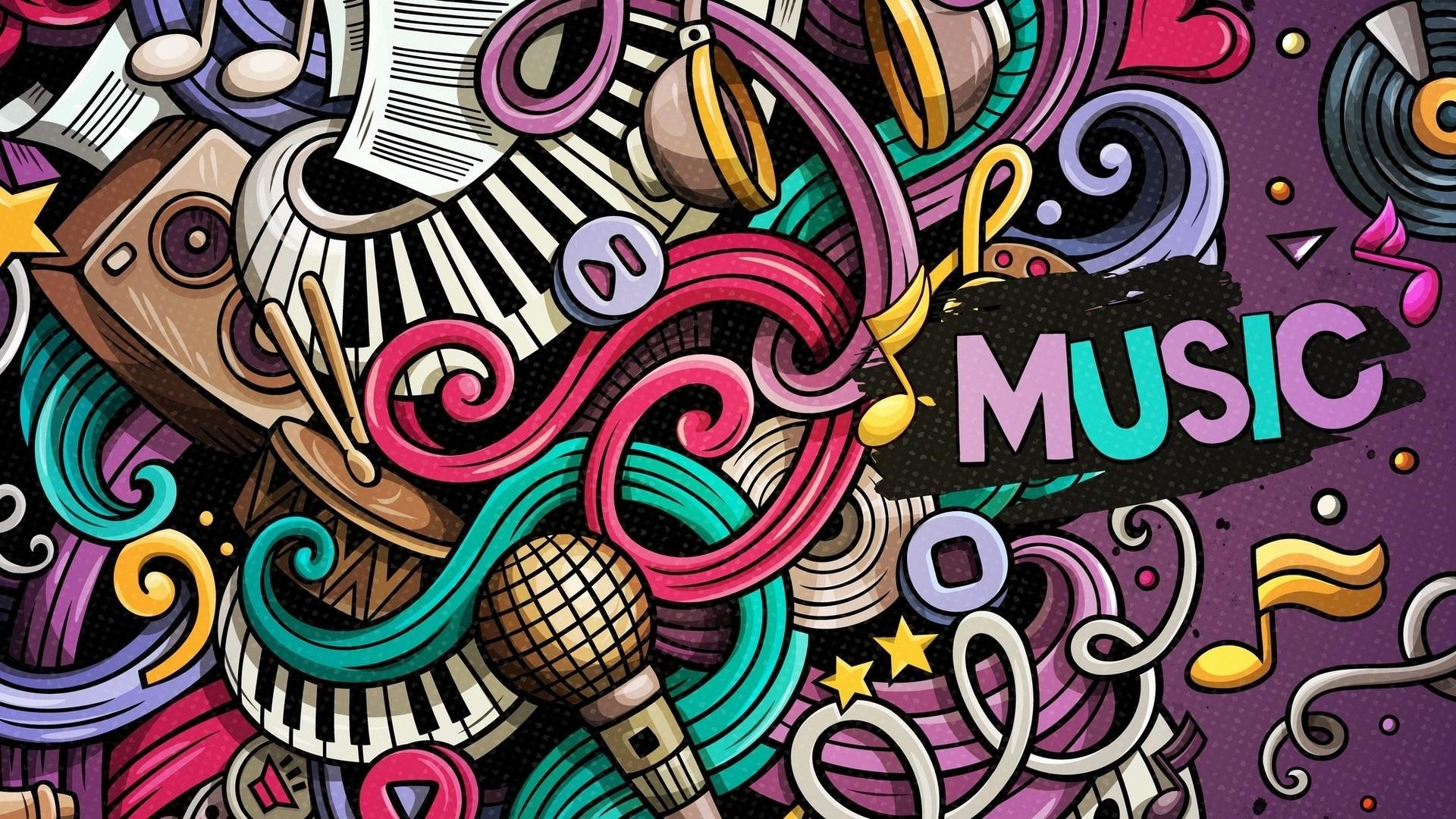 Cute Music 1920x1080 wallpaper