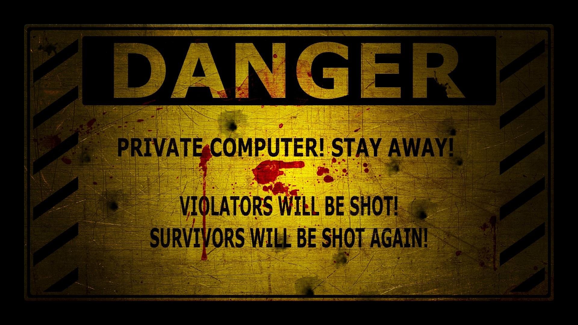 Danger wallpaper image