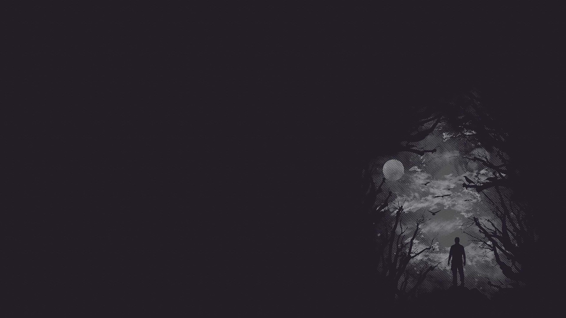 Dark Minimalist Background Wallpaper