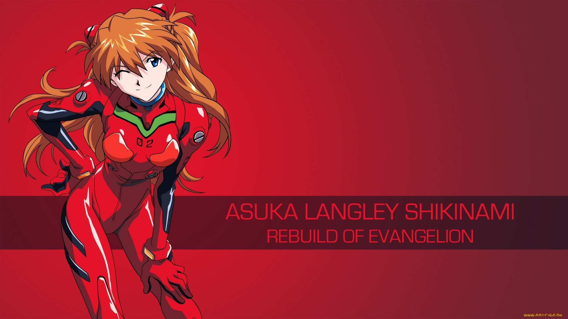 Evangelion Asuka Wallpaper 1920x1080