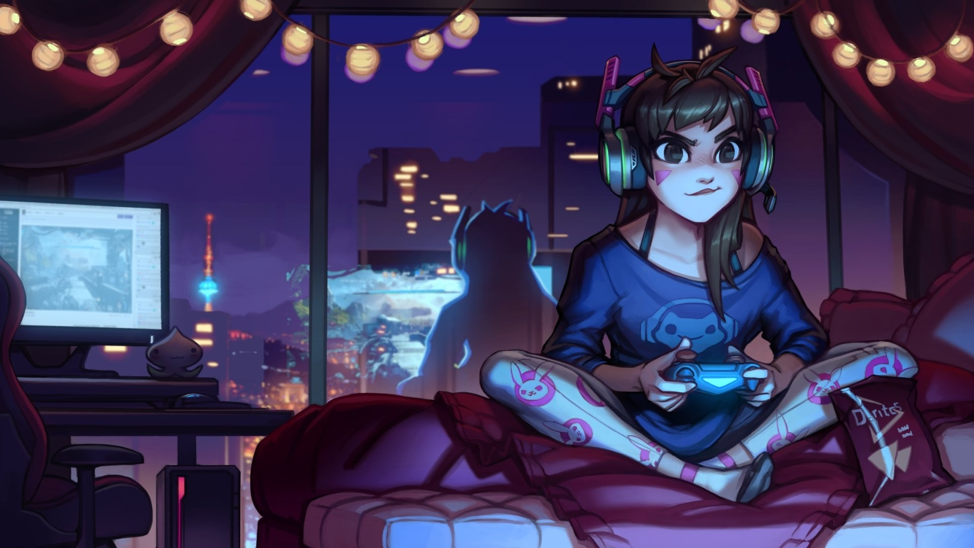 Gamer Girl free download wallpaper