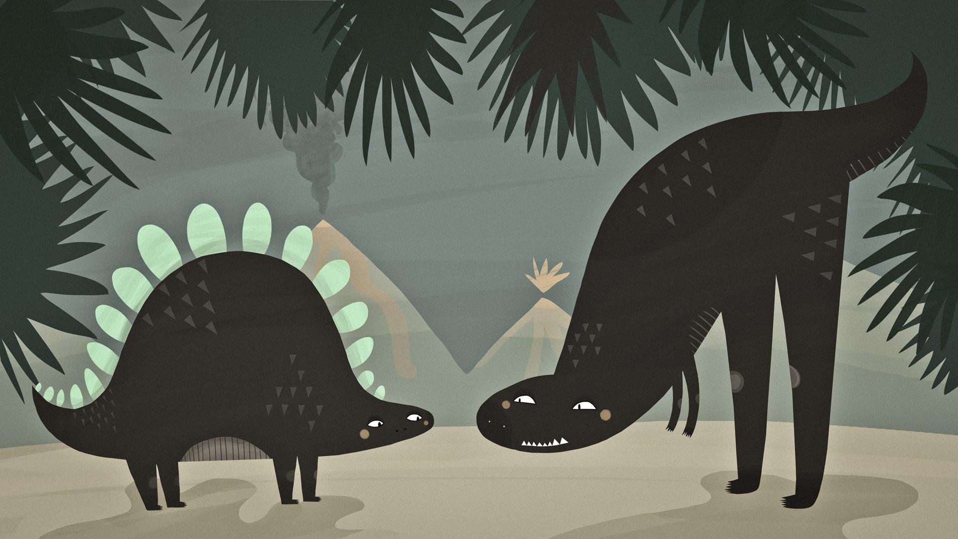 Minimalist Dinosaur Wallpaper Full HD