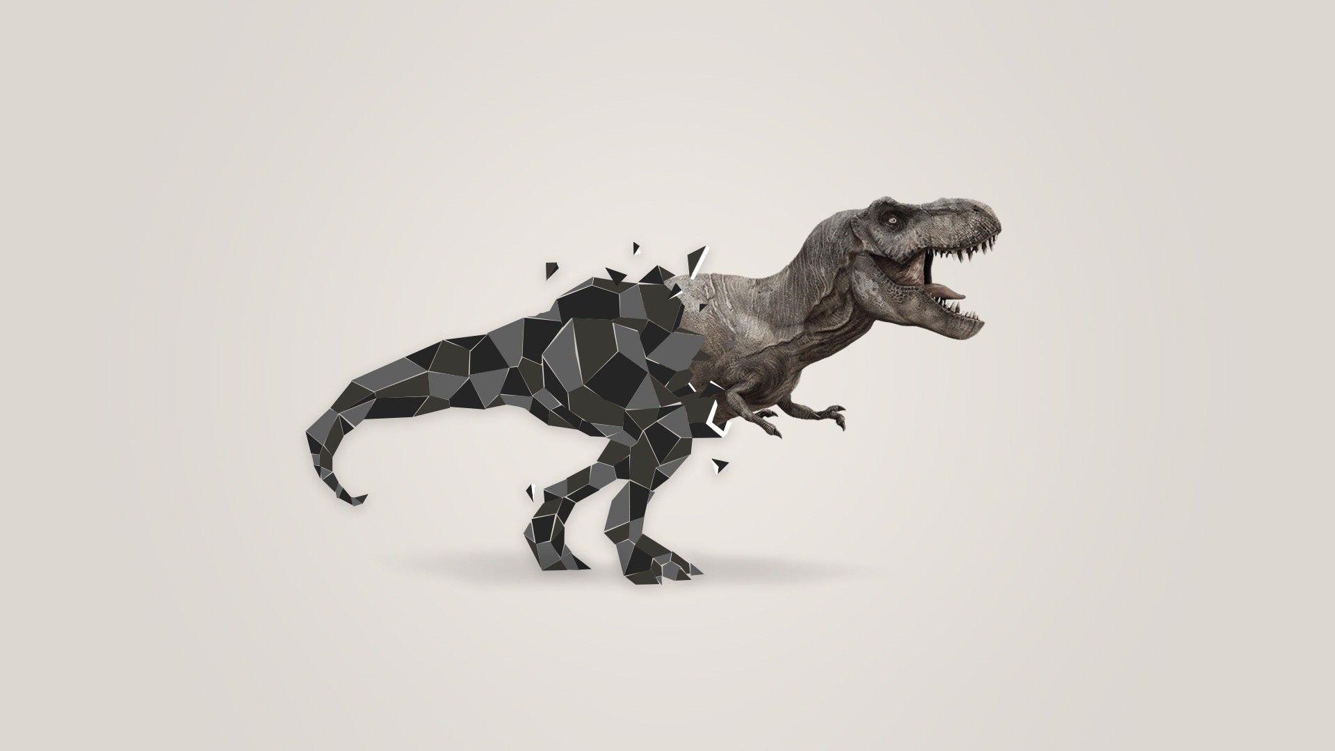 Minimalist Dinosaur Wallpaper HD