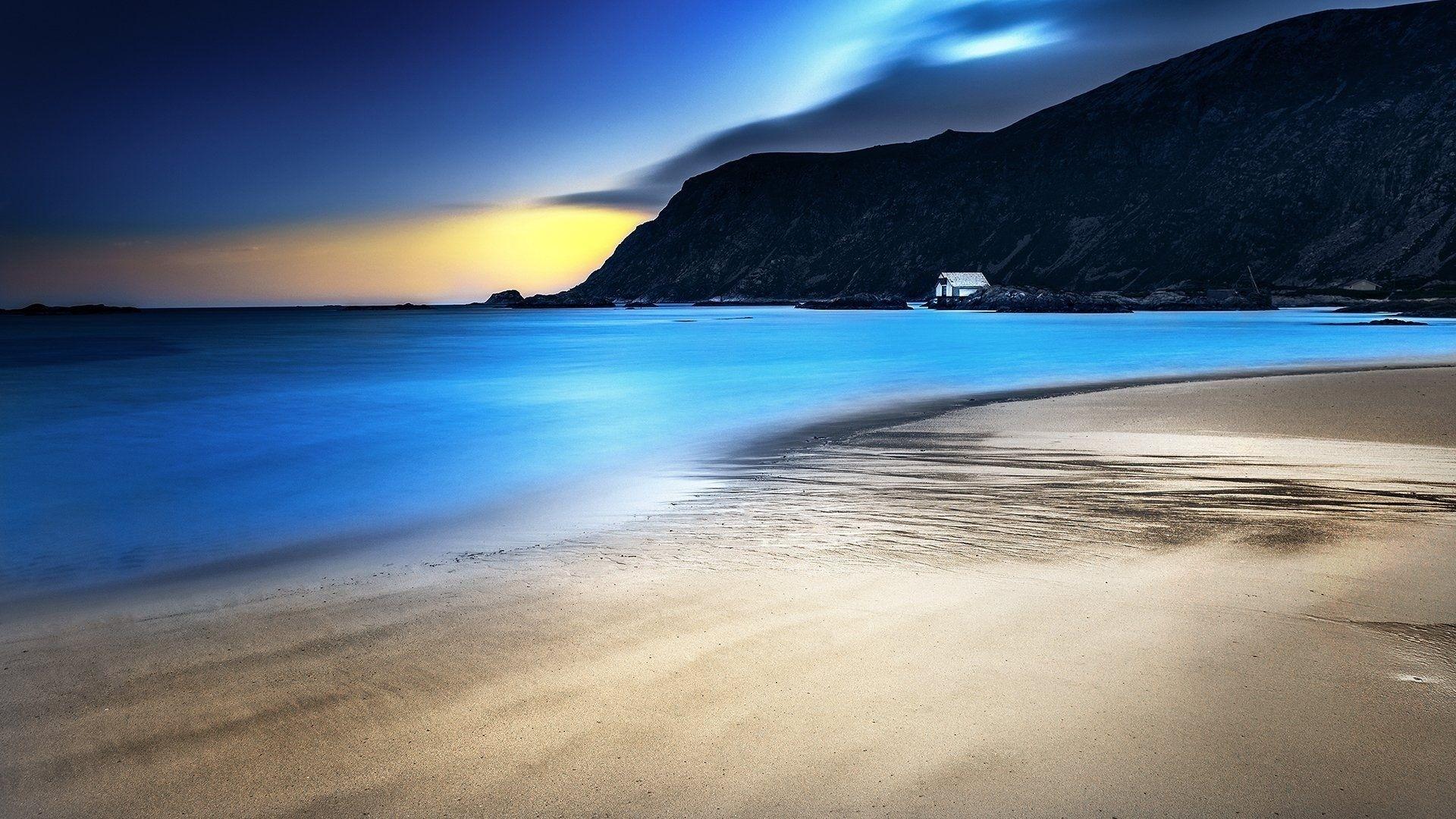 Night Beach Wallpaper Desktop