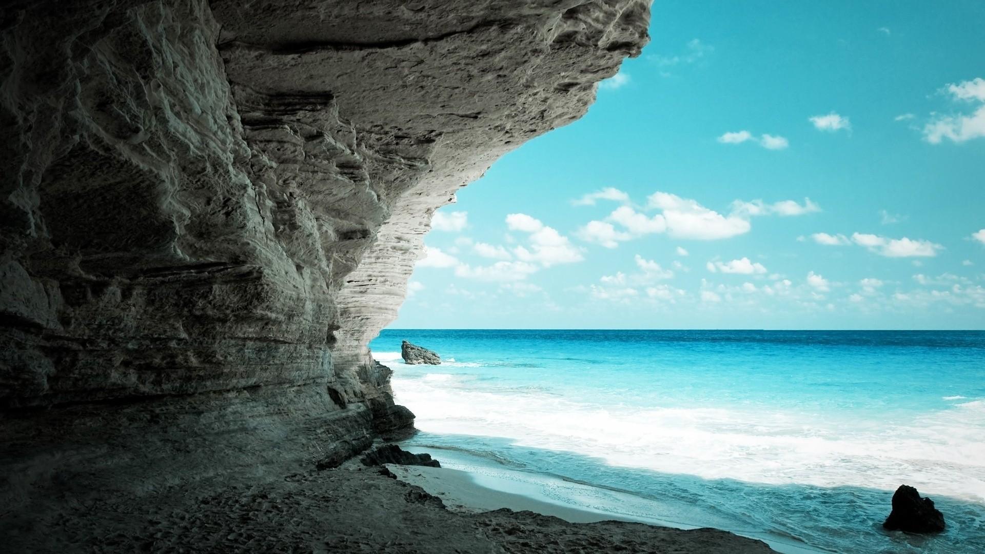 Night Beach Wallpaper Download Full
