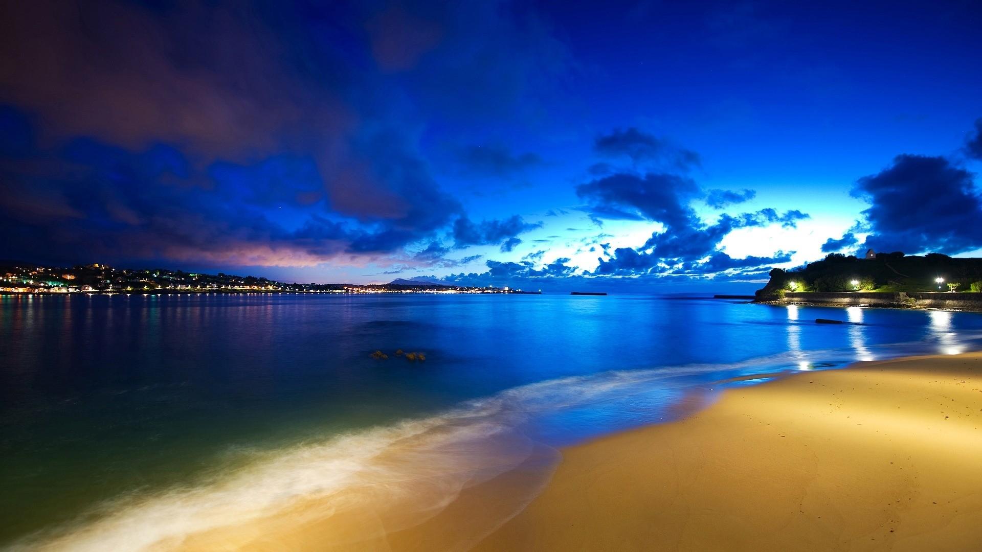 Night Beach Wallpaper Free Download