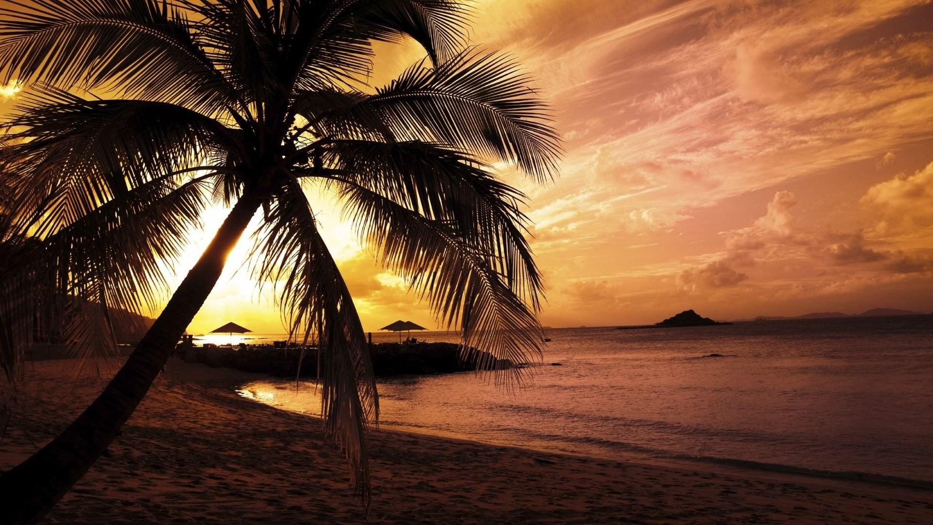 Night Beach Wallpaper HD