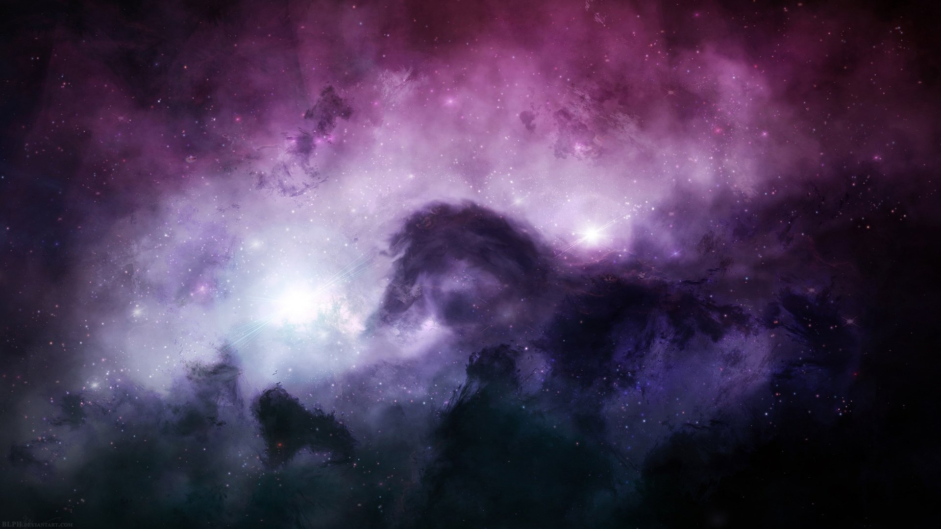 Pink Space Background Desktop