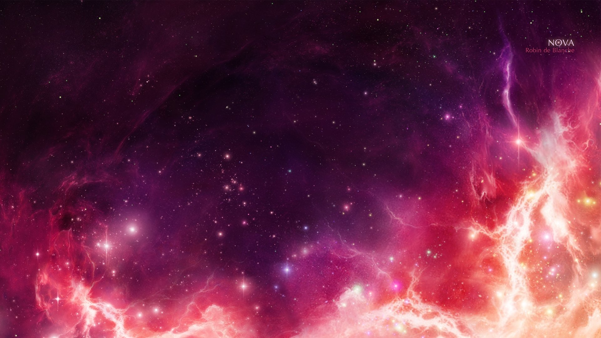 Pink Space Background Free Download