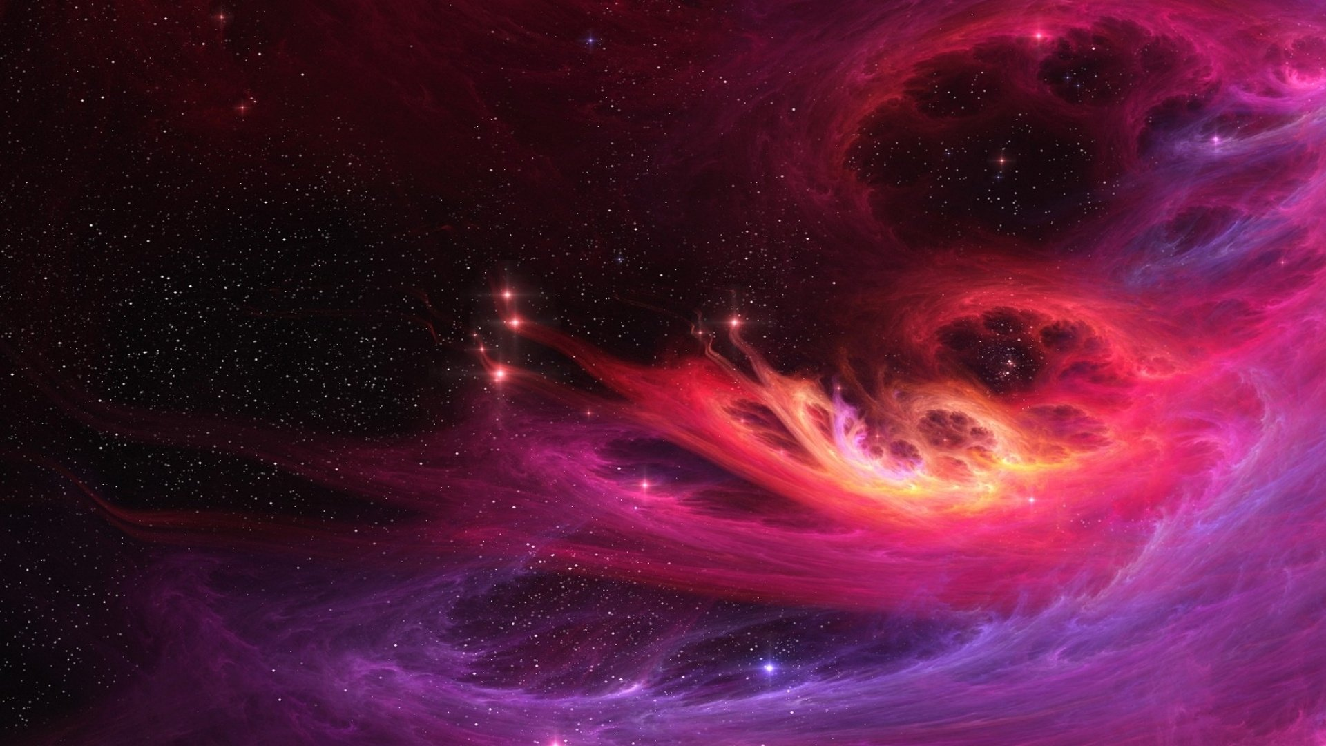 Pink Space Background Full HD