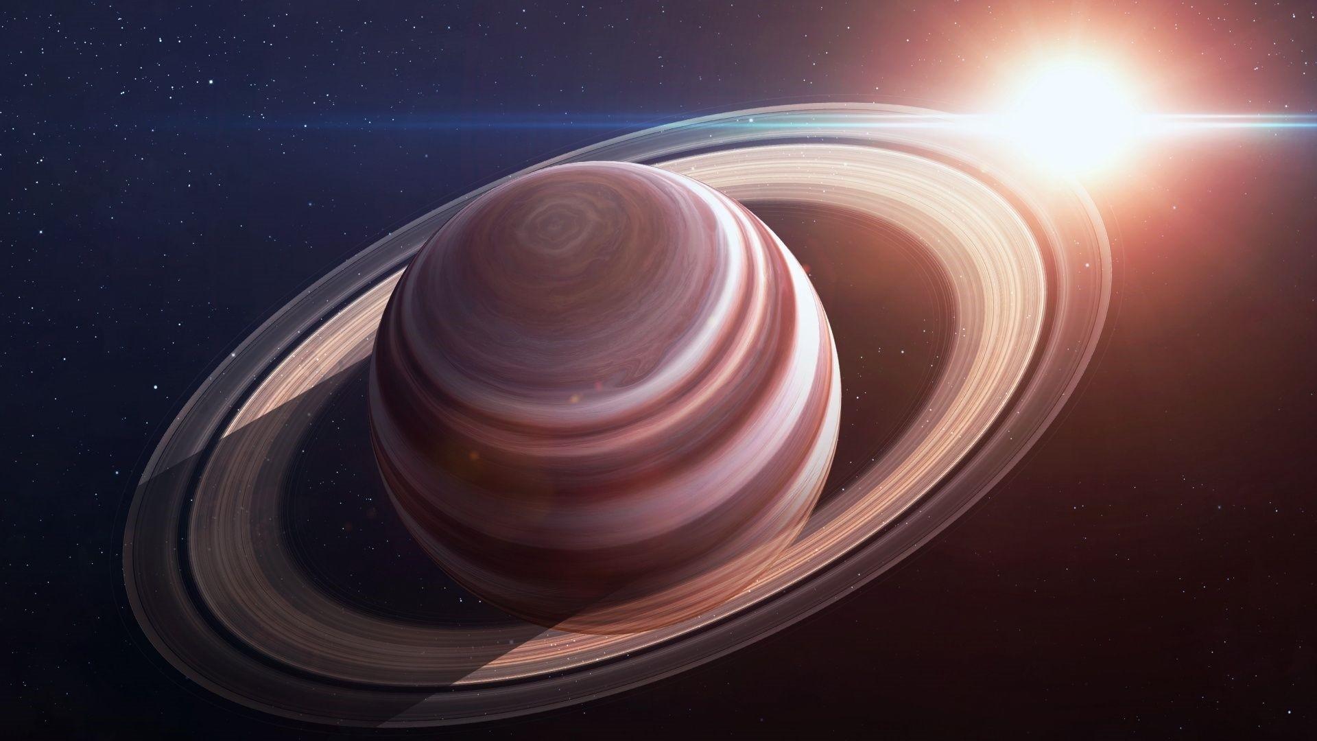 Saturn full screen hd wallpaper
