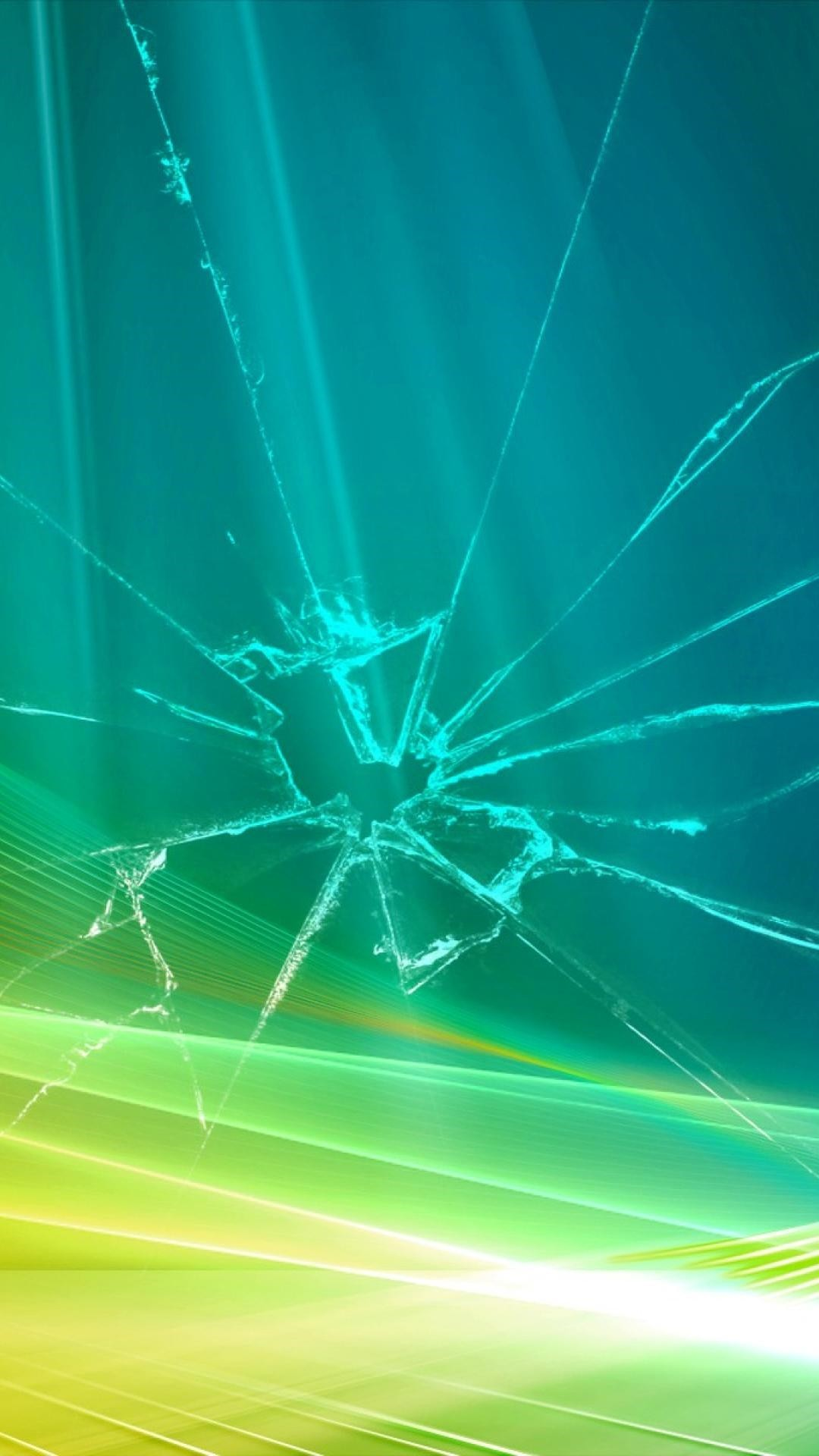 Cracked Screen phone background
