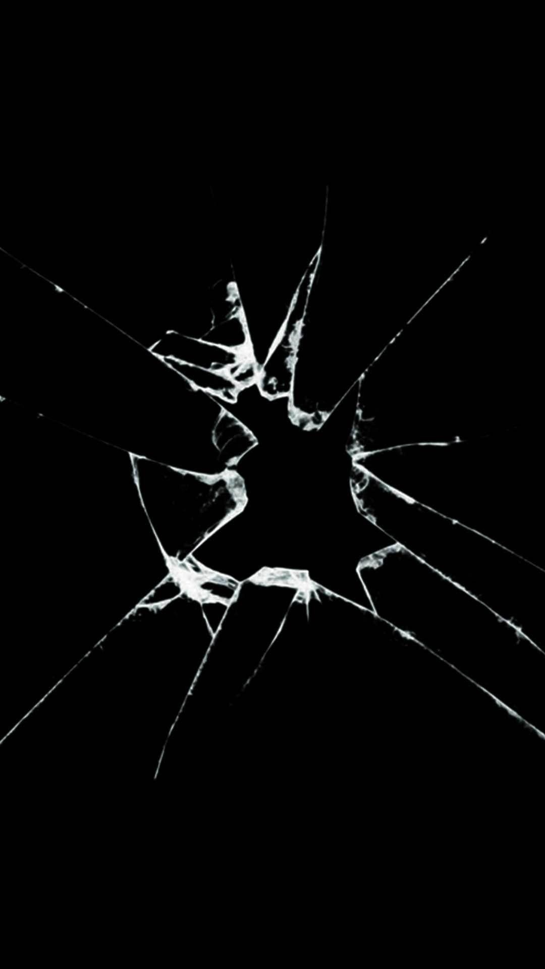 Cracked Screen wallpaper for iPhone