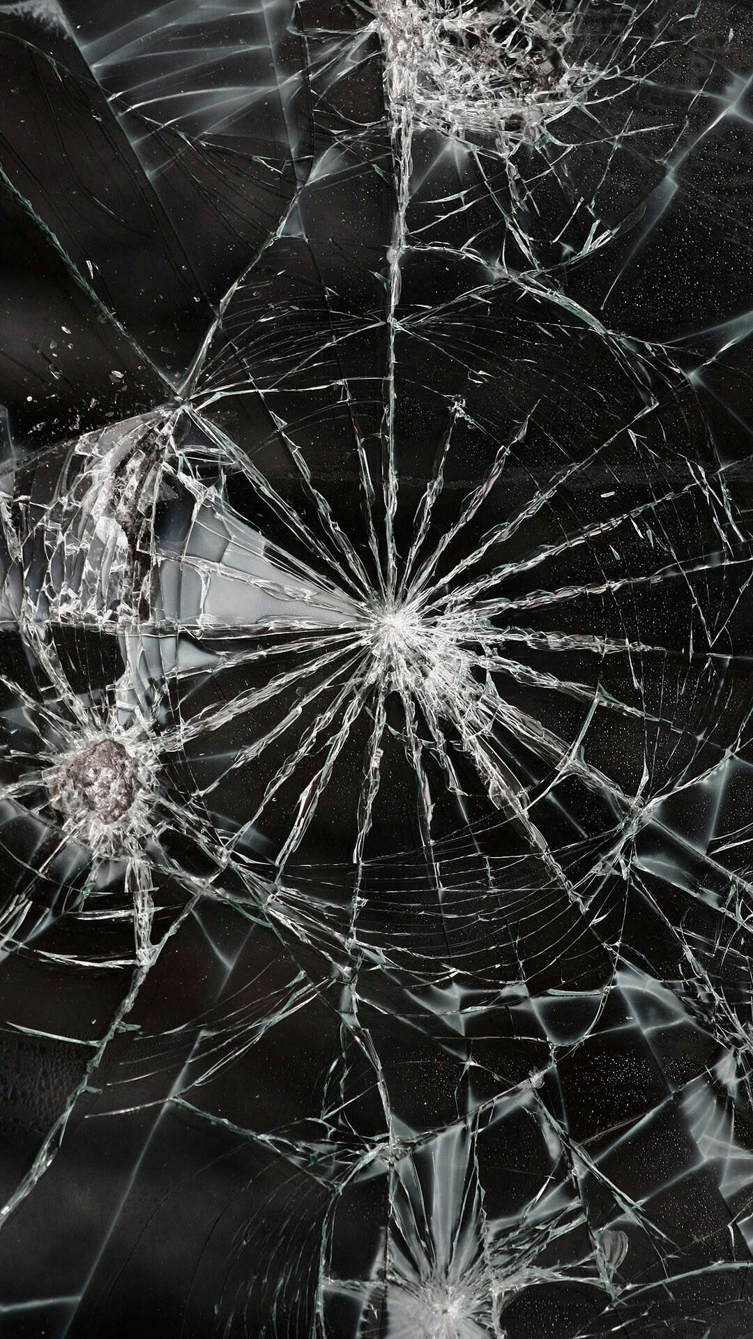 Cracked Screen phone wallpaper