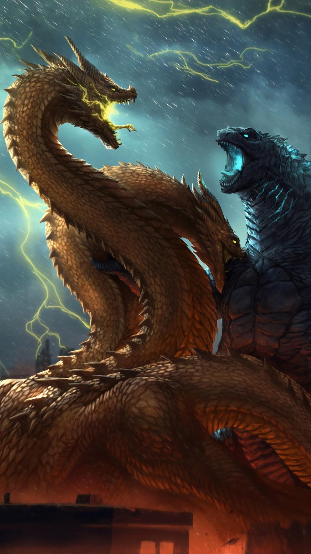 Godzilla phone background
