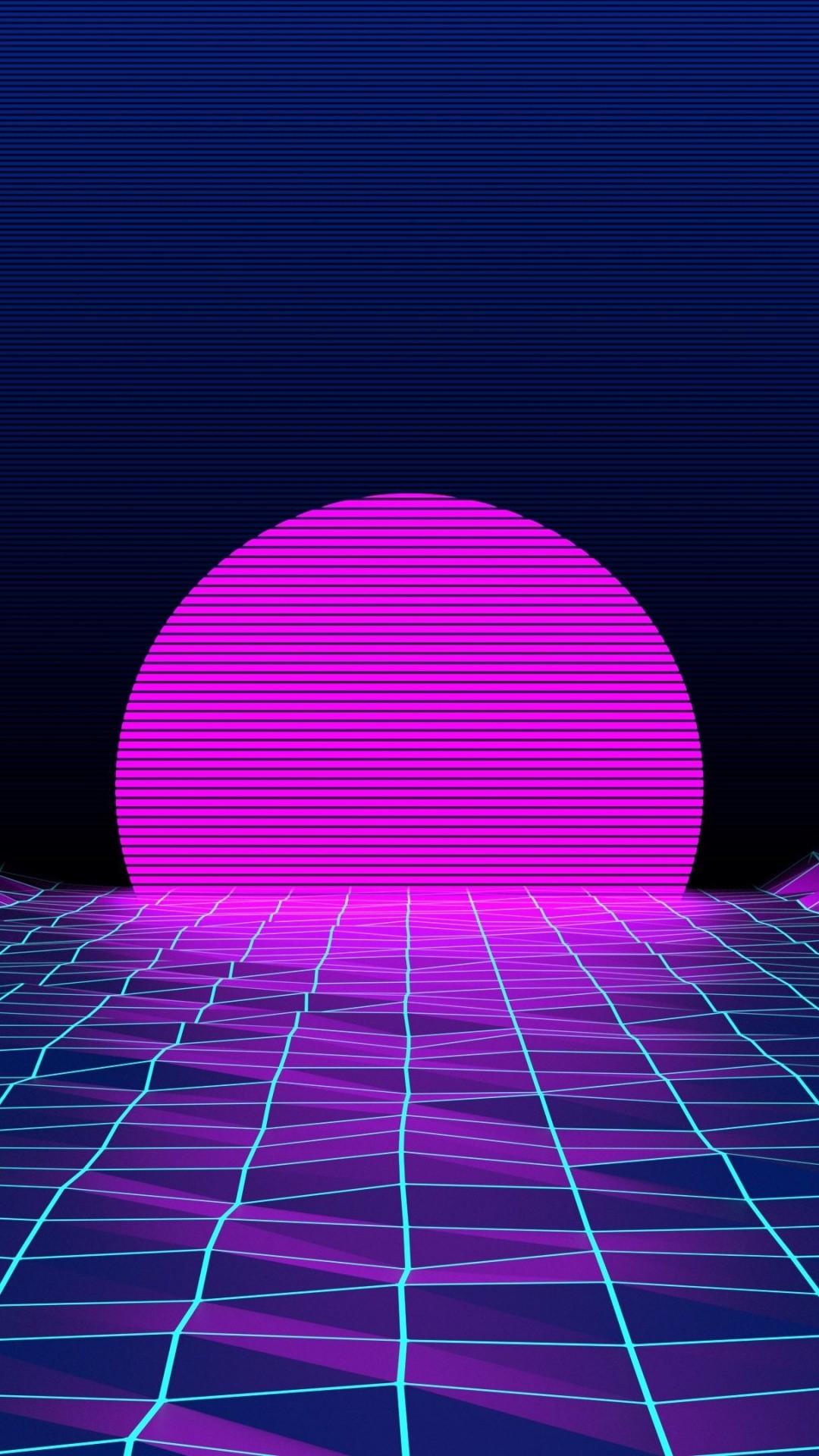 Neon phone background