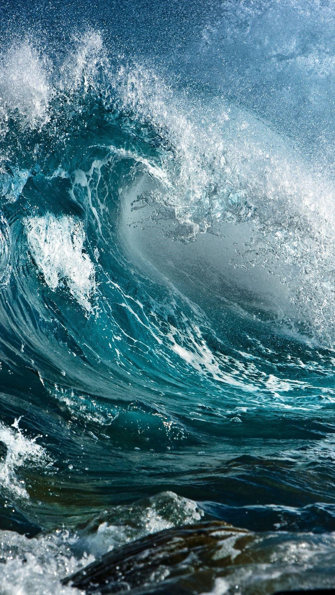 Wave iPhone wallpaper