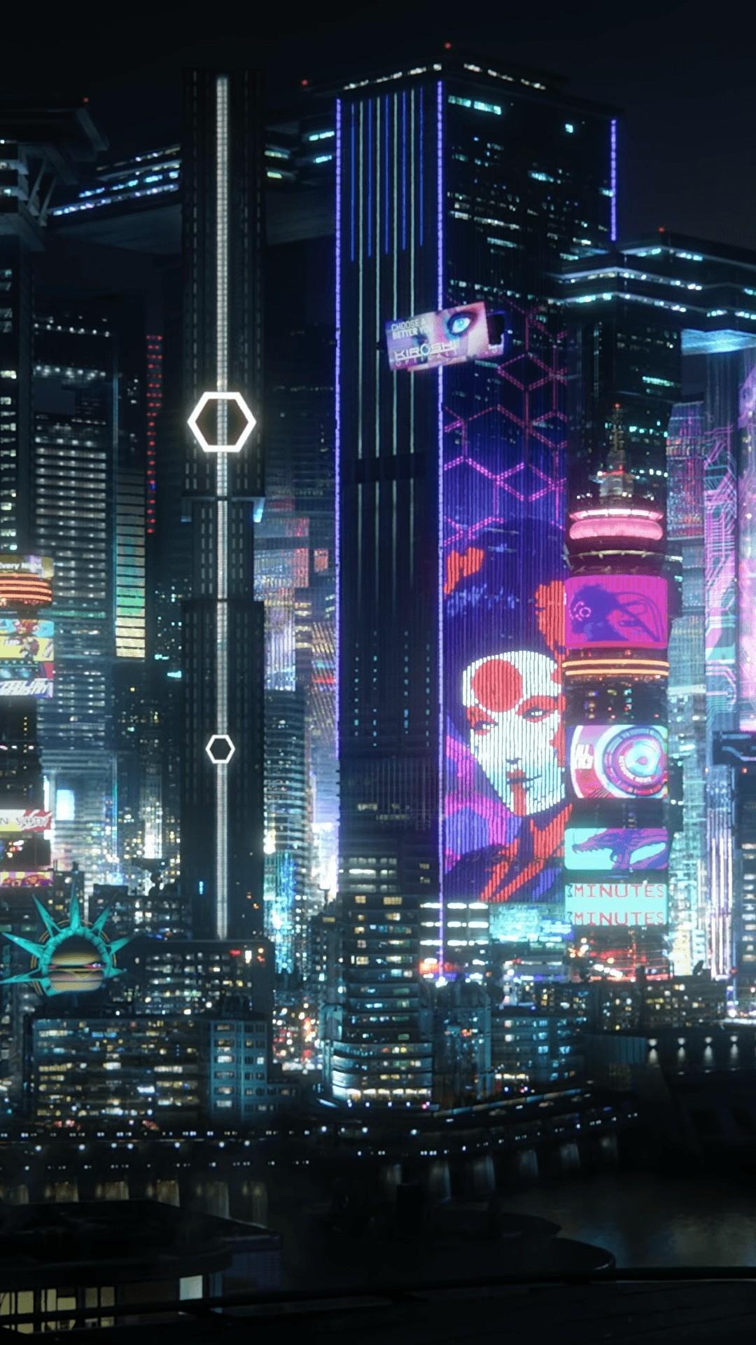 Cyberpunk iPhone 7 wallpaper