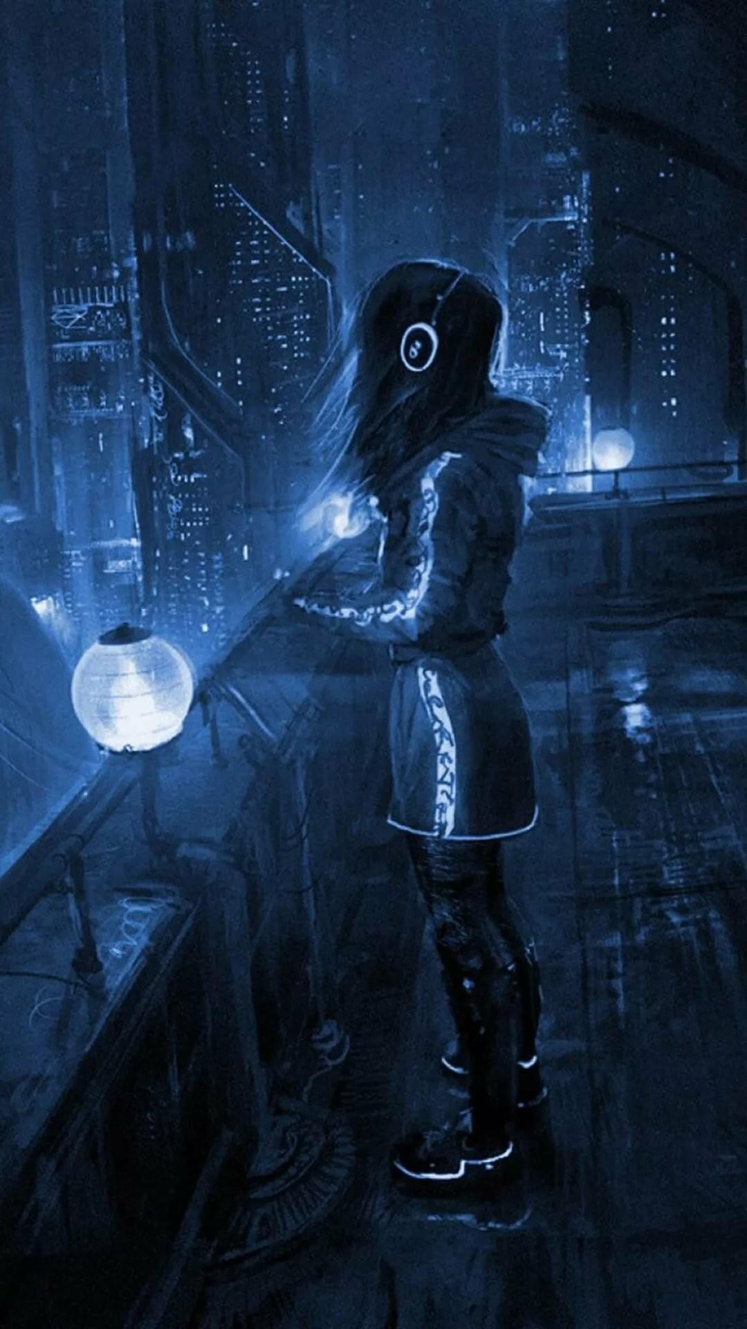 Cyberpunk iPhone 5 wallpaper