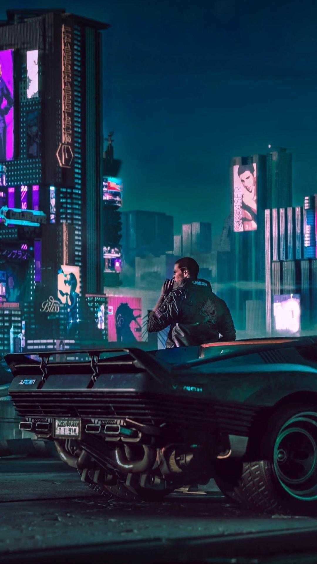 Cyberpunk phone background