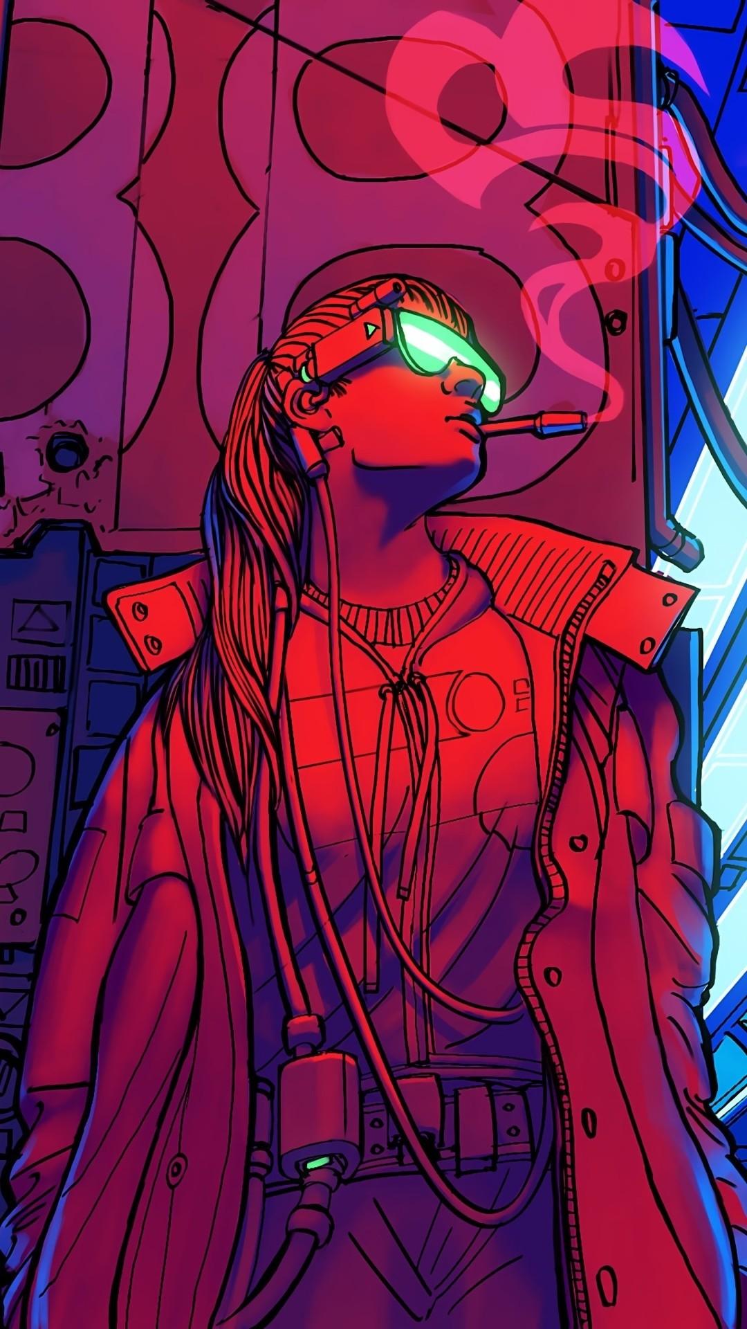 Cyberpunk wallpaper for iPhone