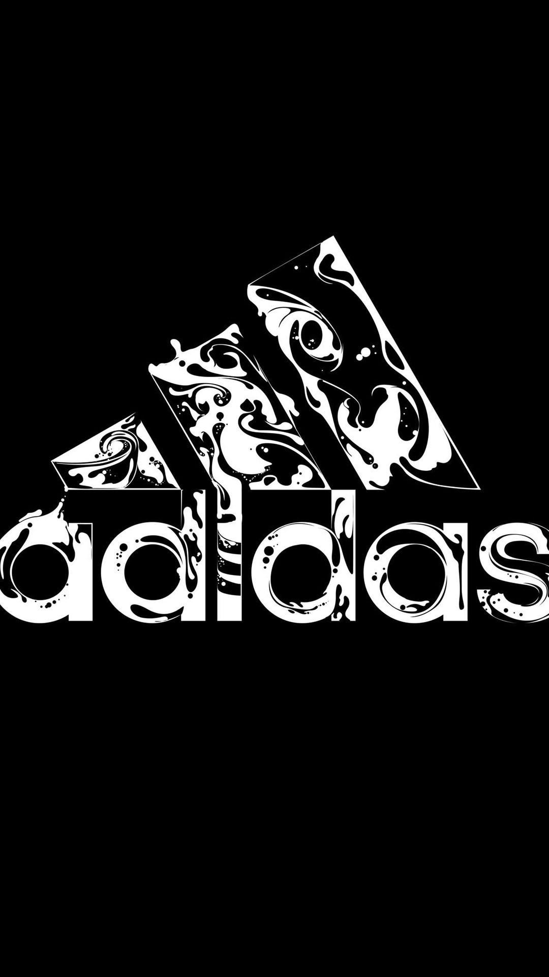 Black Adidas iPhone hd wallpaper