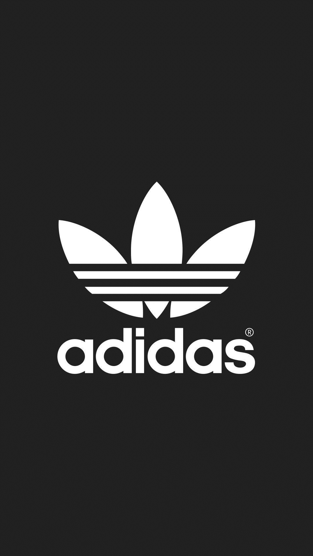Black Adidas iPhone wallpaper