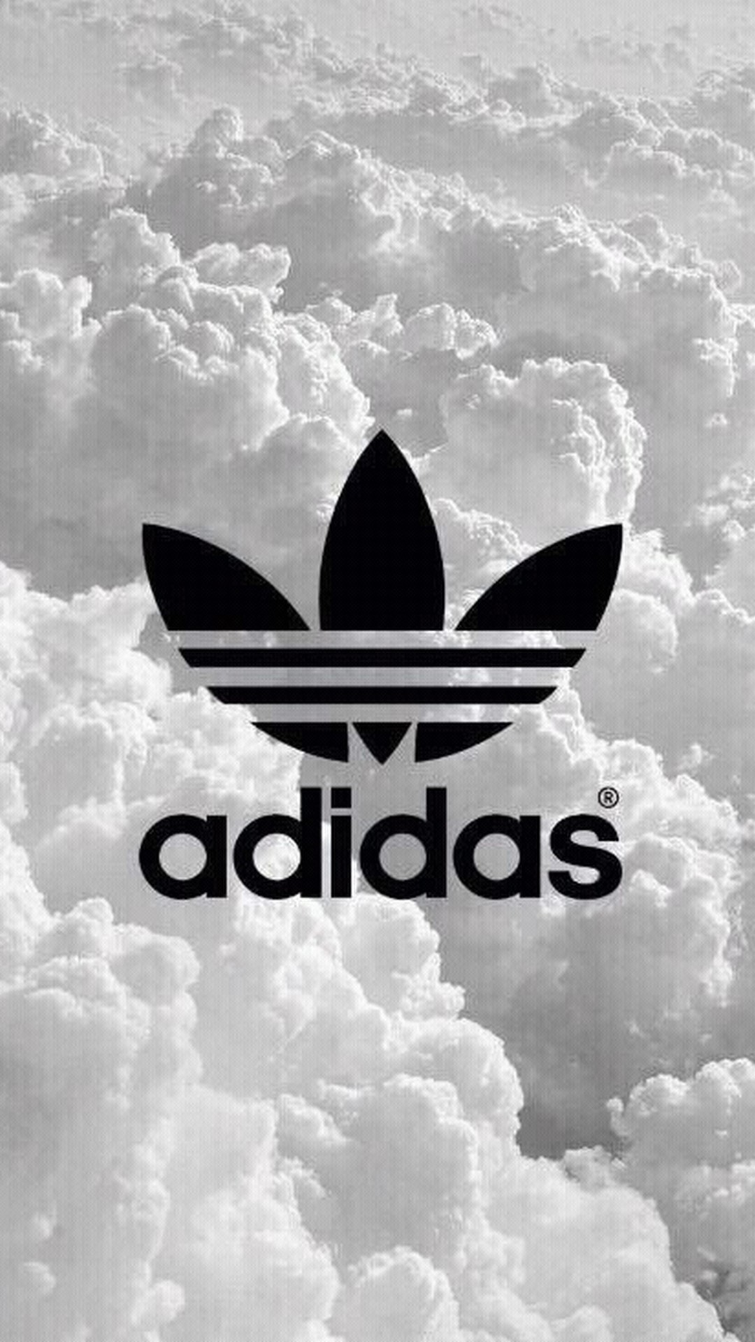 Black Adidas wallpaper for iPhone
