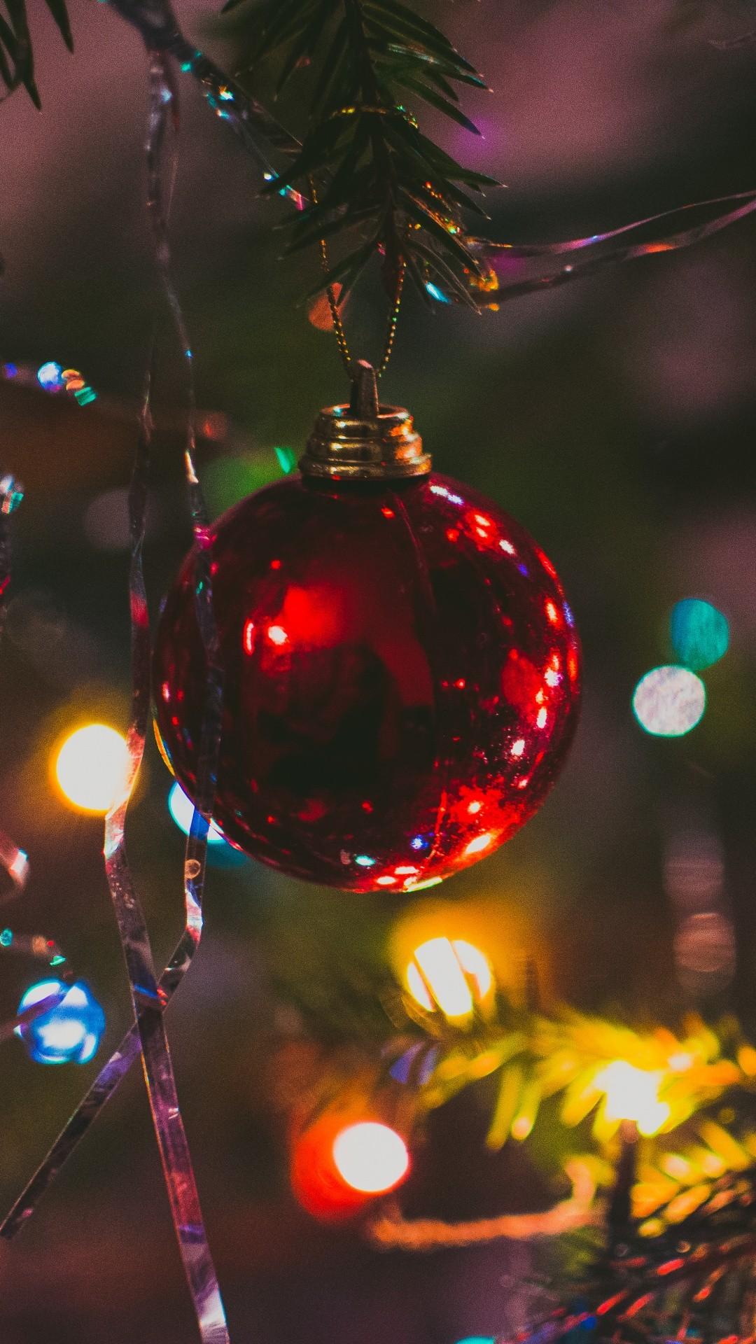 Christmas Lights phone wallpaper