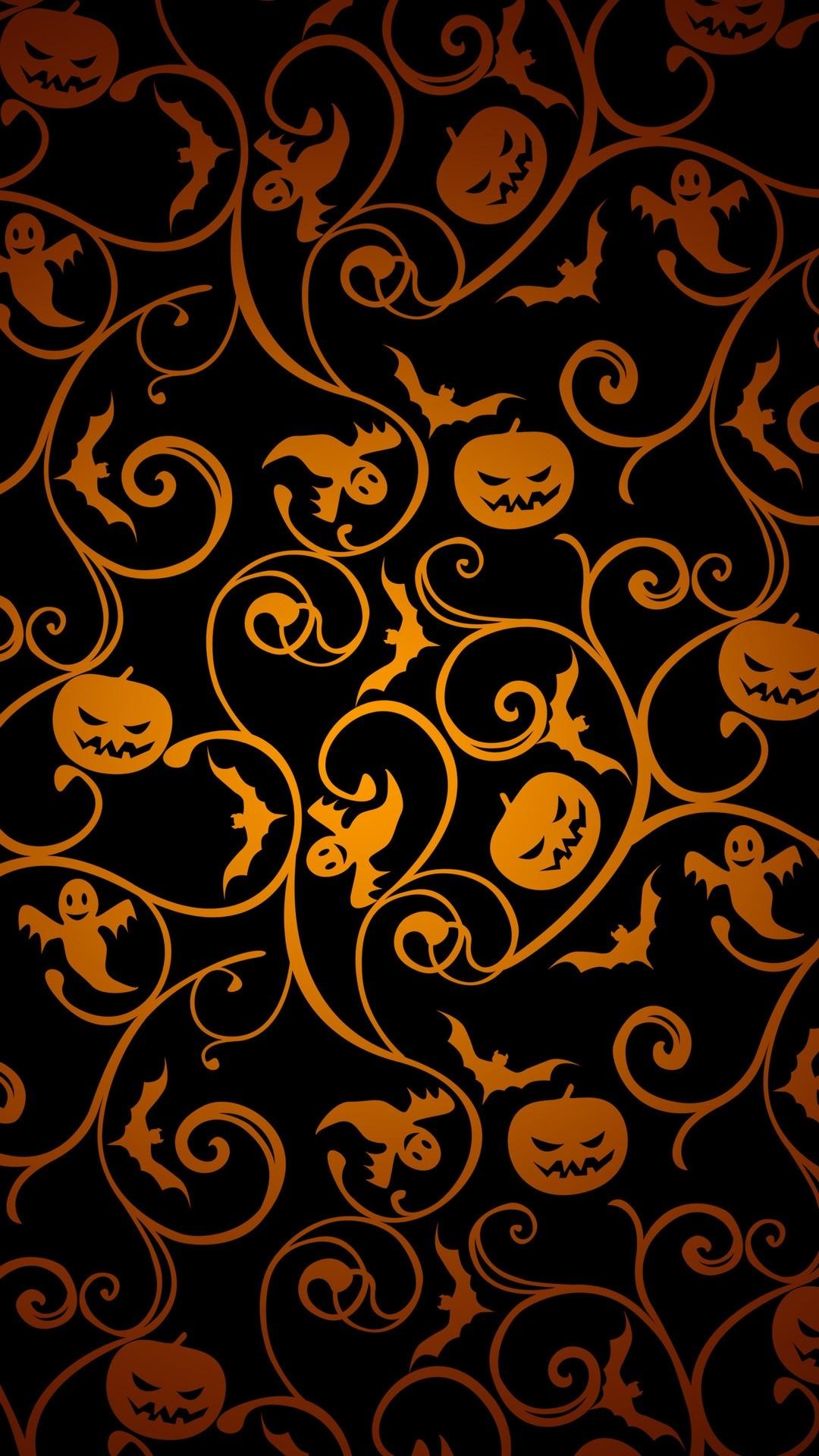 Cute Halloween iPhone wallpaper