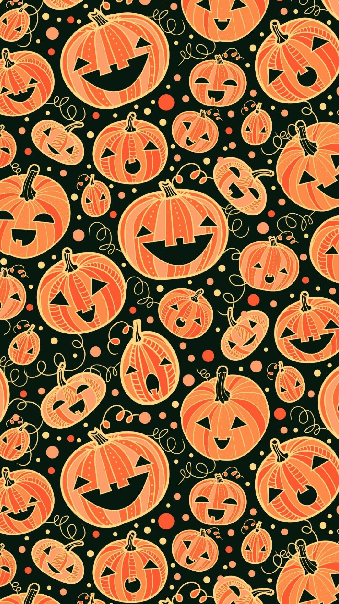 Cute Halloween phone background
