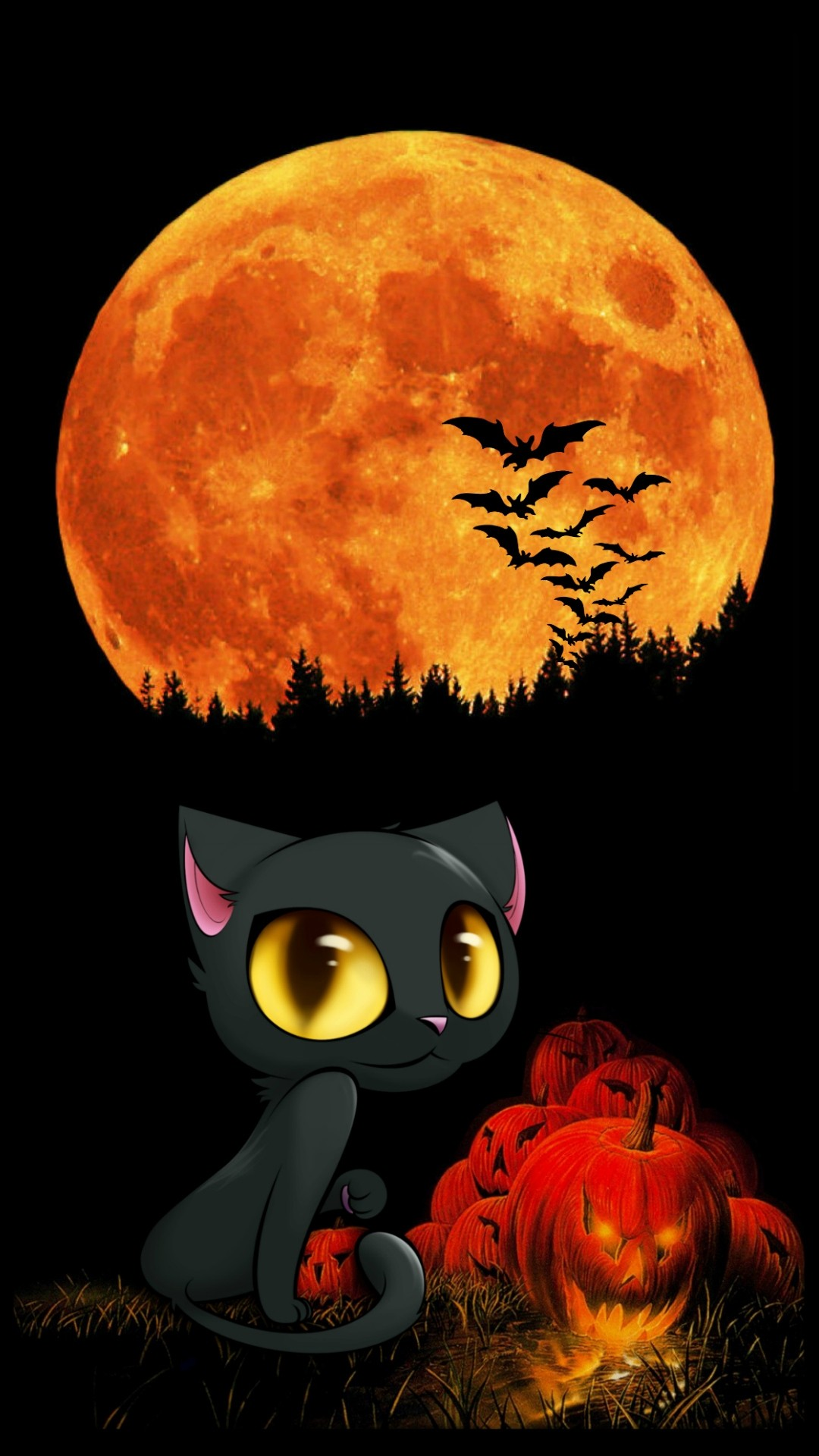 Cute Halloween iPhone 7 wallpaper