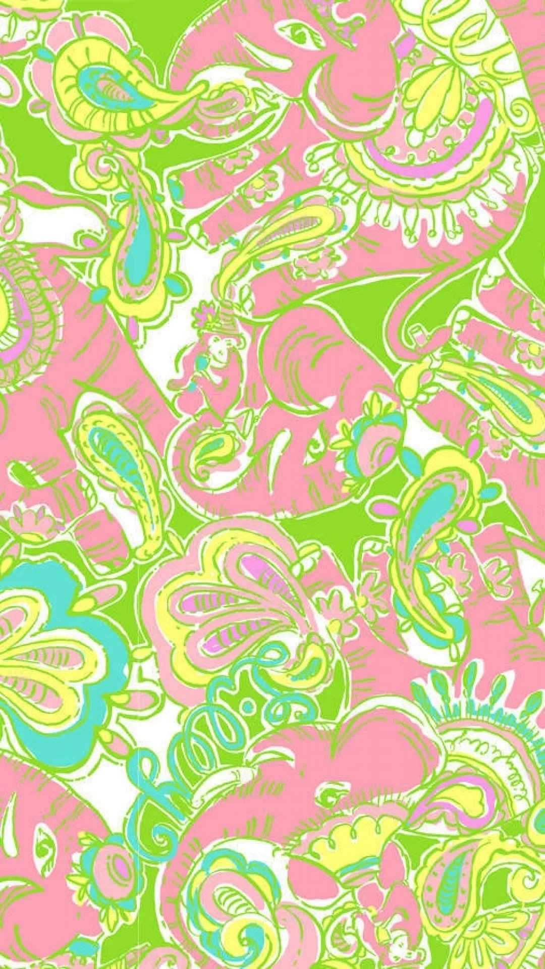Lilly Pulitzer phone background