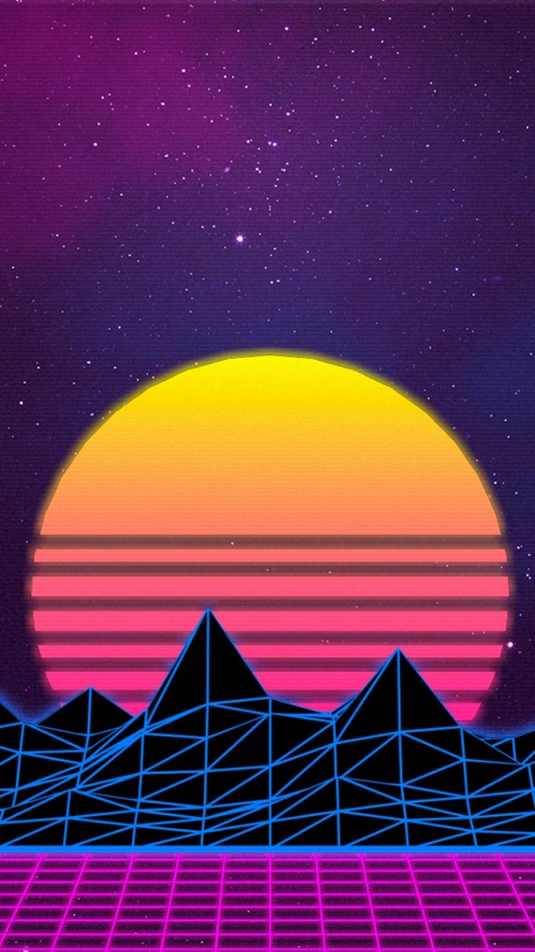 Vaporwave iPhone 7 wallpaper