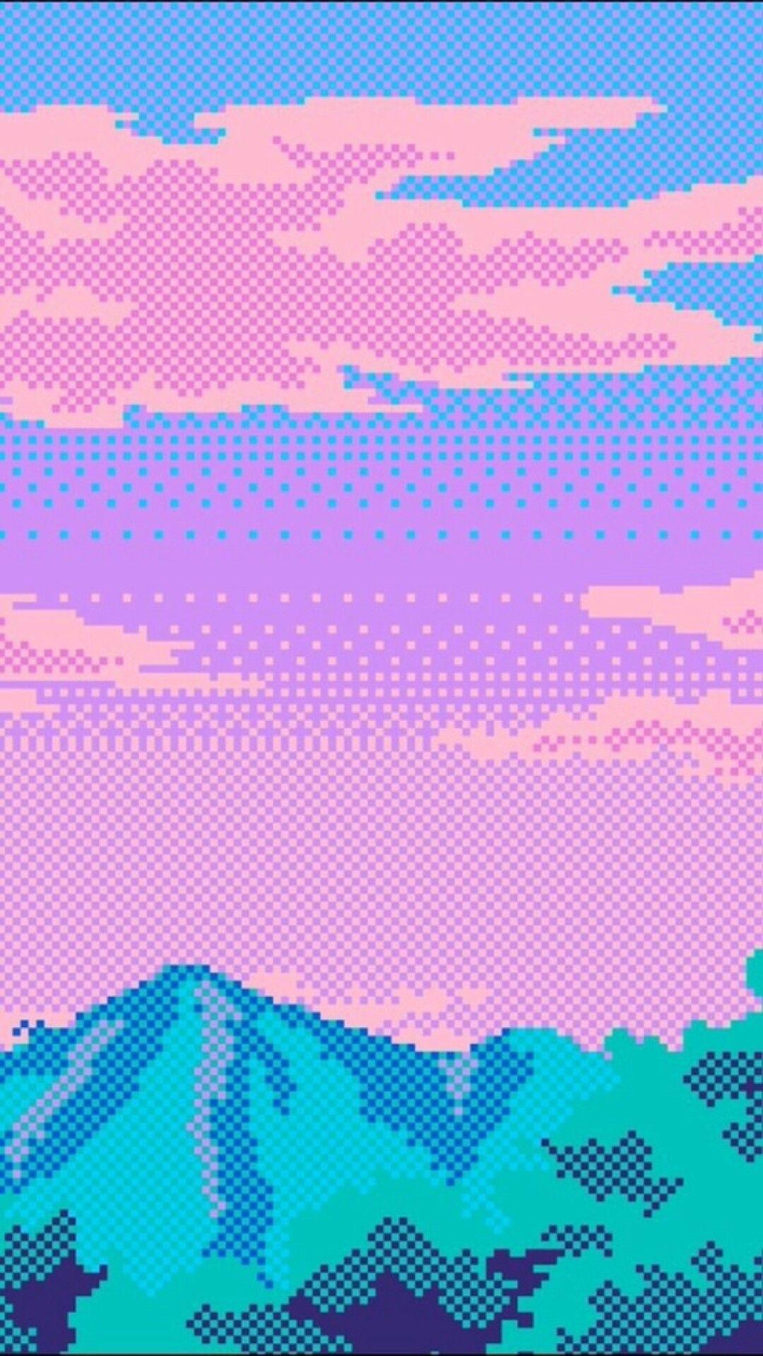Vaporwave phone wallpaper