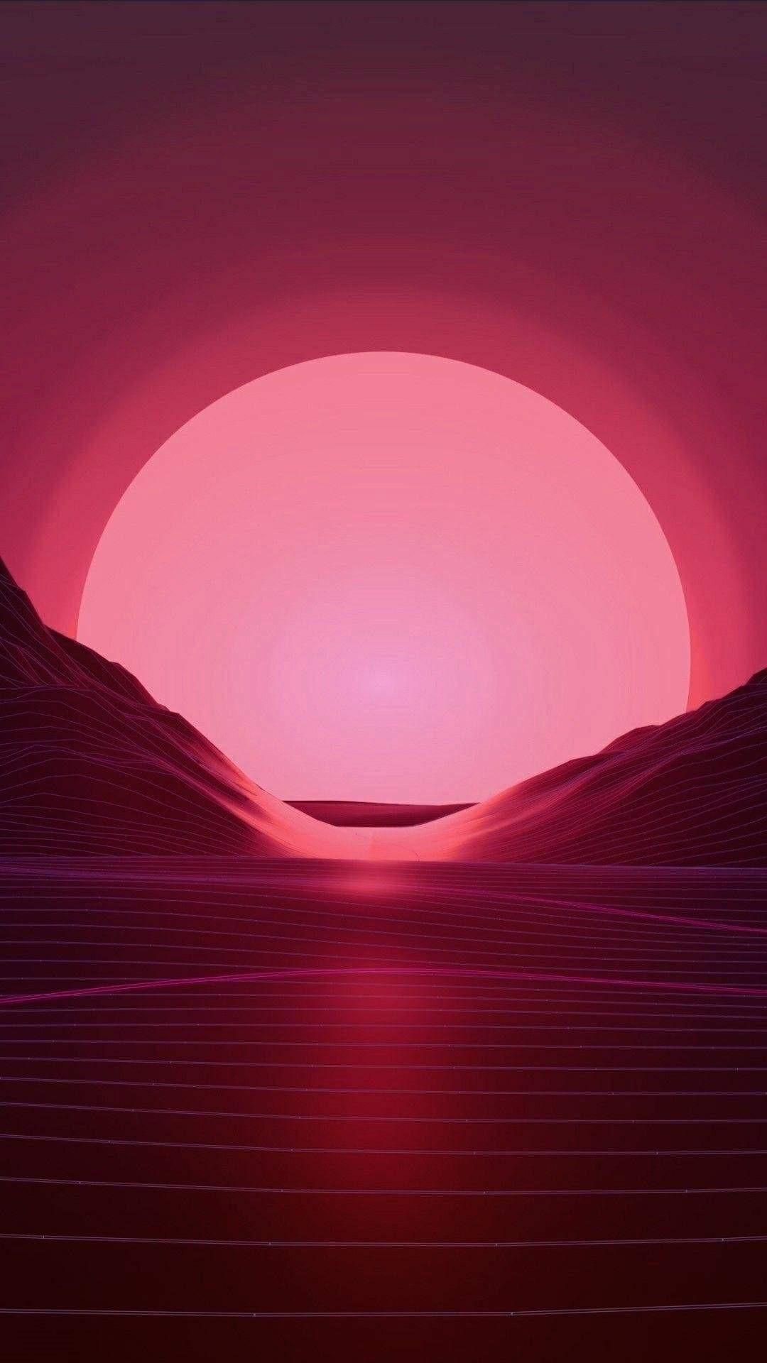 Vaporwave phone background