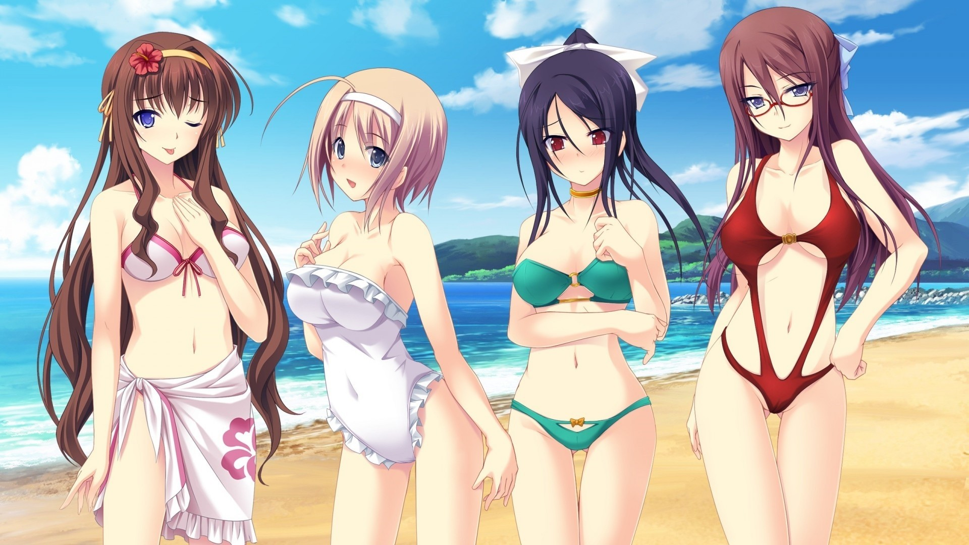 Anime Bikini Free Wallpaper and Background