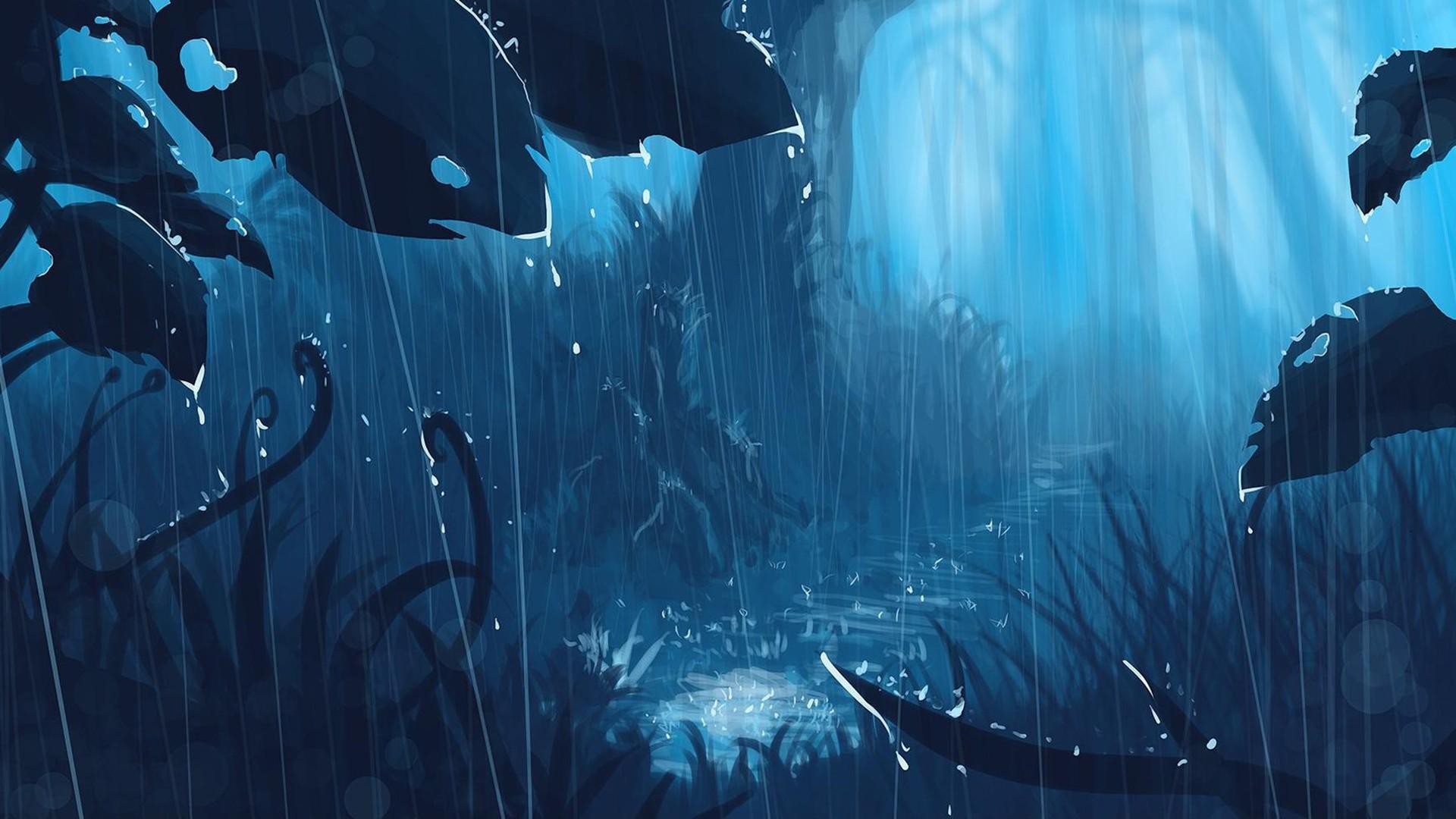 Anime Rain wallpaper and themes
