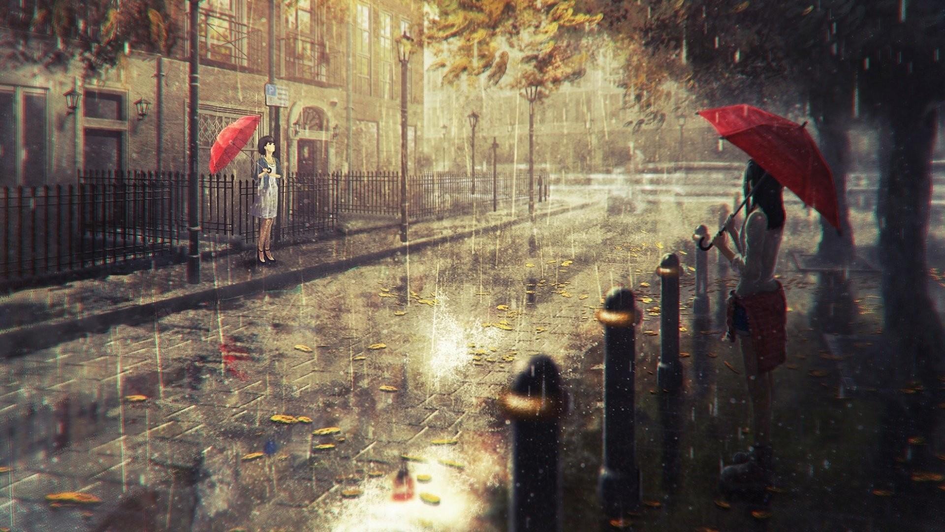 Anime Rain wallpaper download