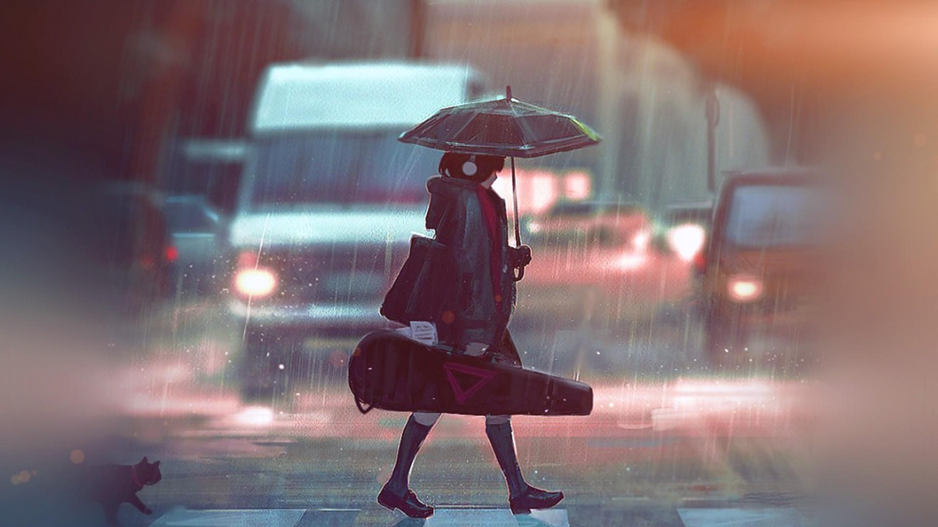Anime Rain Picture